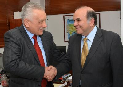 Ministro de Energía y Minas recibe la visita de cortesía del Embajador de la Federación Rusa Vladimir Zaesmkiy, con quien abordó una interesante agenda para futuros proyectos y colaboraciónes