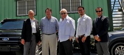 Isa Conde visita la construcción de la primera central de biomasa del país