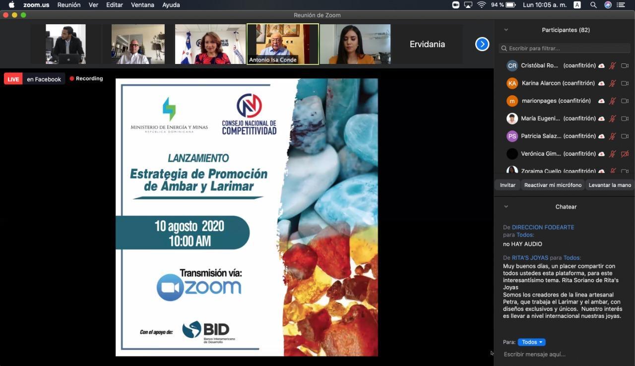 Presentan estrategia de promoción para el Ámbar y el Larimar con alcance nacional e internacional