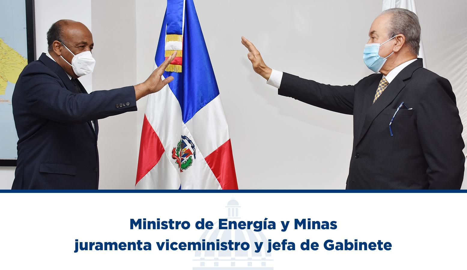 Ministro de Energía y Minas juramenta viceministro y jefa de Gabinete